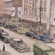 Shopping On Elm St. 1949 Art Print