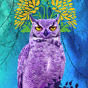 Owl At Night Art Print