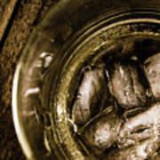 Shot Of Whisky On The Rocks Art Print