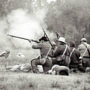 Shots Fired Civil War Art Print