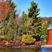 Shoul Point Lighthouse - Old Forge Art Print