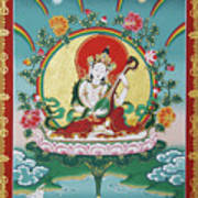 Shri Saraswati - Goddess Of Wisdom And Arts Art Print
