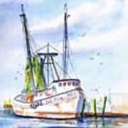 Shrimp Boat Gulf Fishing Art Print