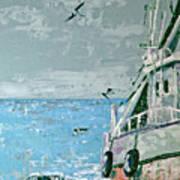 Shrimp Boat In The Gulf Art Print