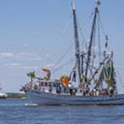 Shrimp Boat Parade Of The Shrimp Festival Art Print
