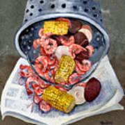 Shrimp Boil Art Print