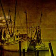 Shrimpboats In Apalachicola  Art Print