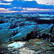 Shropshire Winter Sunset Scene Art Print