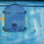 Shuttered Blue Art Print