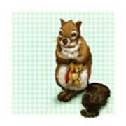 Shy Squirrel Art Print