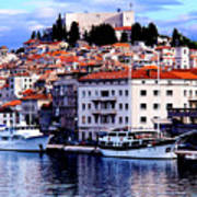 Sibenik Waterfront Art Print
