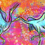 Siberian Cranes Art Print