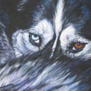 Siberian Husky Eyes Art Print