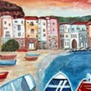 Sicilian Fishing Village Art Print