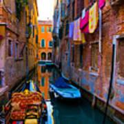 Side Canal  Venice Art Print