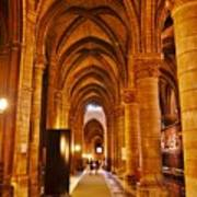 Side Hall Notre Dame Cathedral - Paris Art Print