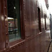 Side Of Train Window Art Print