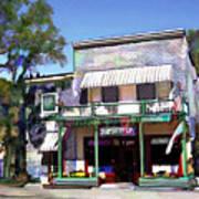 Side Street Cafe Los Olivos Ca Art Print