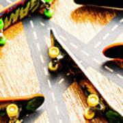Side Streets Of Skate Art Print