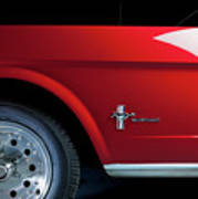 Side View Of 1964 Ford Mustang Art Print