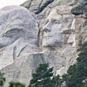 Side View Of Mount Rushmore  8696 Art Print