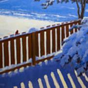 Side Yard Snow Art Print