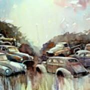 Sidehill Retirees Art Print