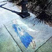 Sidewalk Angel Art Print