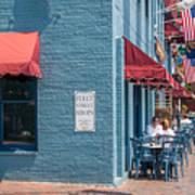 Sidewalk Cafe Annapolis Art Print