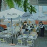 Sidewalk Cafe Study Art Print