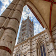 Siena Cathedral Tower Framed By Arch Art Print
