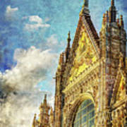 Siena Duomo Facade In The Sunset Art Print