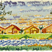 Siena Lakes Art Print