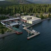Sierra Boat Aerial Art Print