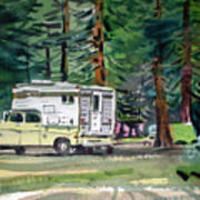 Sierra Campsite Art Print
