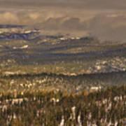 Sierra Nevada Winter Vista Art Print