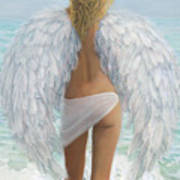 Siesta Key Beach Angel Art Print
