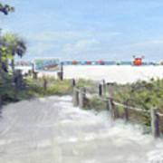 Siesta Key Public Beach Access Art Print