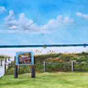 Siesta Key Public Beach Art Print
