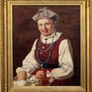 Sigfrid August Keinanen, Woman Standing. Art Print