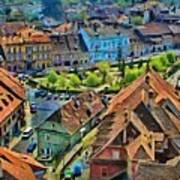 Sighisoara From Above Art Print