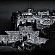 Sights In Scotland - Castle Bagpiper Art Print