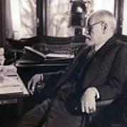 Sigmund Freud Seated In His Study Art Print