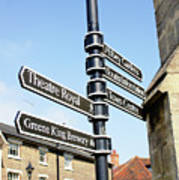 Sign Posts In Bury St Edmunds Art Print