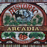 Sign - Welcome To Arcadia Art Print
