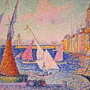 Signac: St. Tropez Harbor Art Print by Granger