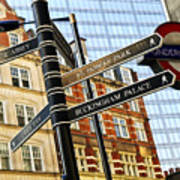 Signpost In London Art Print