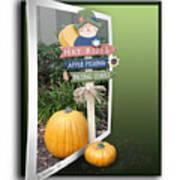 Signs Of Halloween Art Print