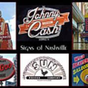 Signs Of Nashville Art Print