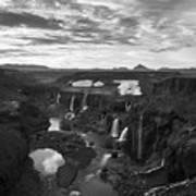 Sigoldufoss Waterfalls Iceland 1291 Art Print